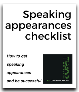 speaking appearances checklist